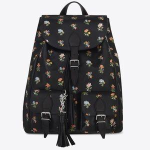 Saint Laurent Prairie Floral Festival Backpack